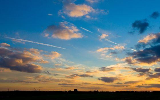 Заставки синее, небо, облака