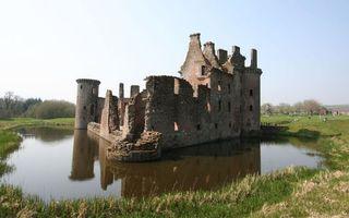 Фото бесплатно замок, здание, озеро