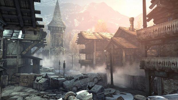 Фото бесплатно здания, машина, руины