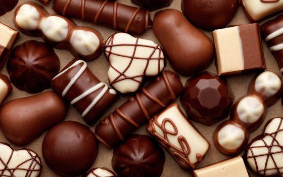 Фото бесплатно конфеты, сладости, белый