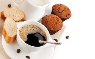 Фото бесплатно сладкое, кофе, сдоба, десерт, выпечка, кексы, булочка
