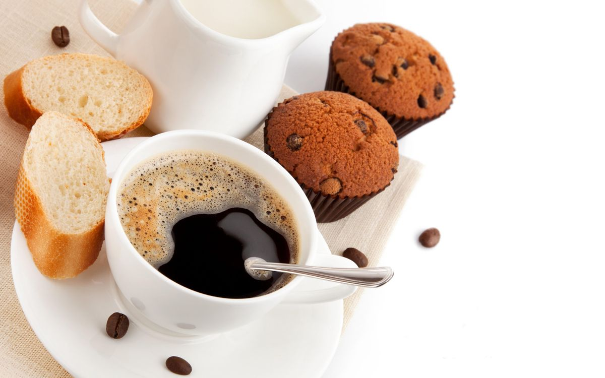Фото бесплатно сладкое, кофе, сдоба - на рабочий стол