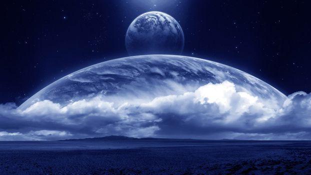 Фото бесплатно новая земля, поле, планеты
