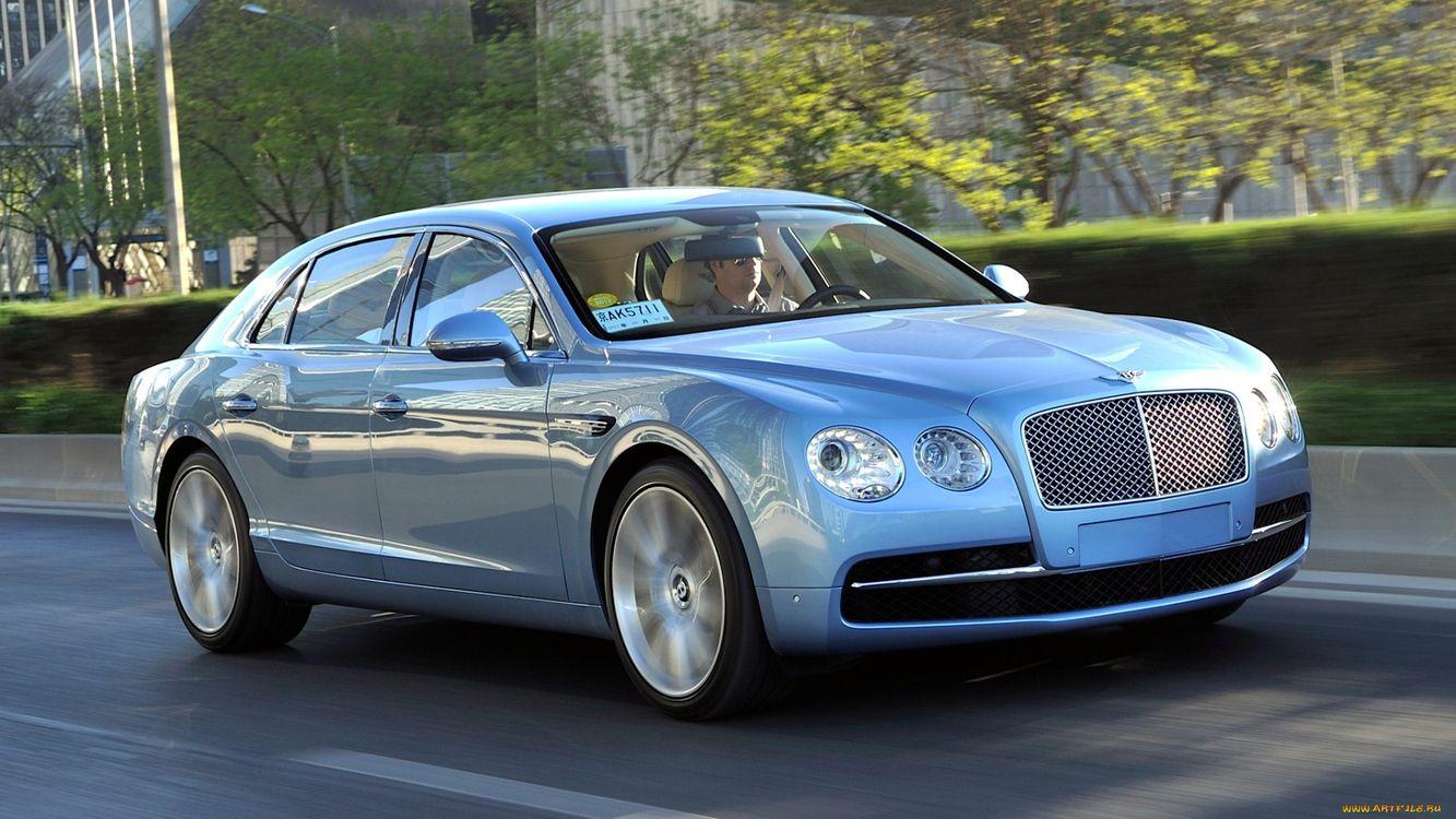 Фото бесплатно bentley, голубой, дорога, машины, машины