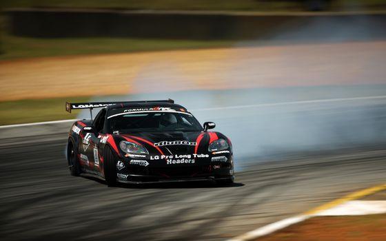 Заставки corvette,zr1,черный,наклейки,трек,дорога,поворот,дрифт,занос,дым,машины