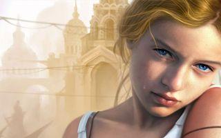 Фото бесплатно девушка, глаза, голубые