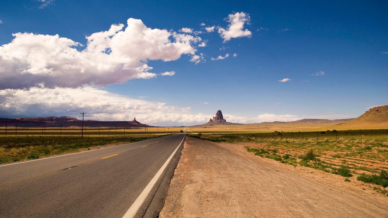 Фото бесплатно дорога, обочина, путь, трасса, небо, облака, горизонт, пейзажи, пейзажи