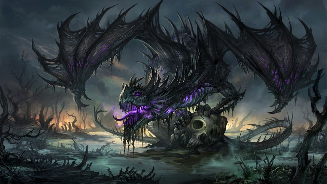 Photos for free dragon, wings, eyes - to the desktop