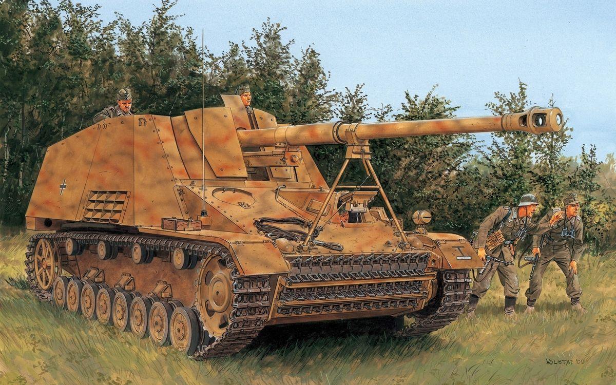 Обои hummel, танк, сау, артиллерия, wot, world of tanks, фашисты, оружие, рендеринг на телефон | картинки рендеринг