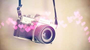 Бесплатные фото фотоаппарат,сердечки,графика,шнурок,объектив,зеркалка,цифровой