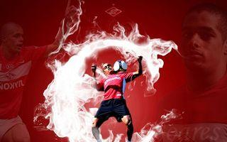 Заставки футбол, мяч, красный, блики, ярко, необычно, спорт