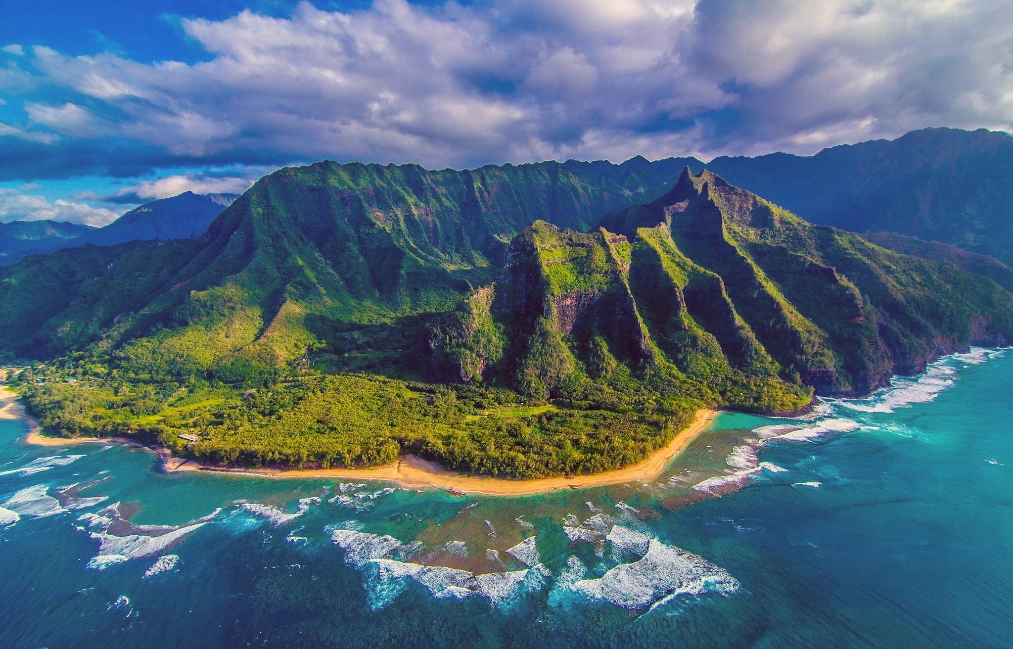 гавайи, море, остров