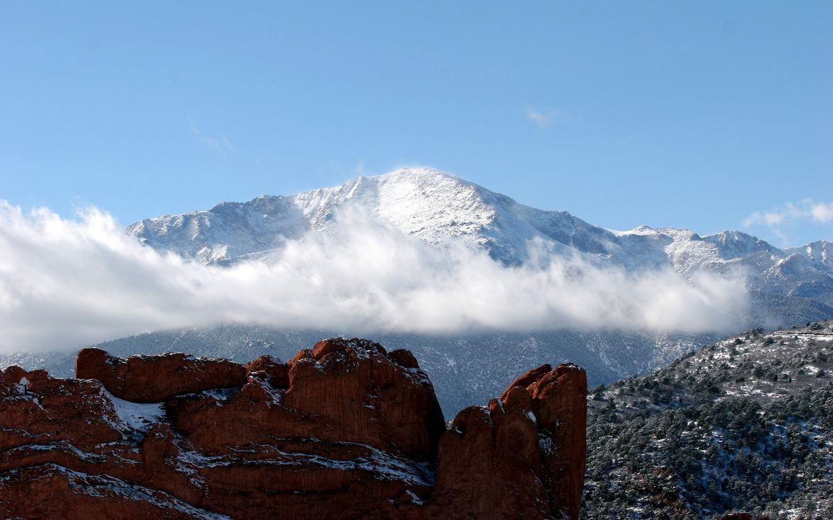 Фото бесплатно горы, туман, высоко - на рабочий стол
