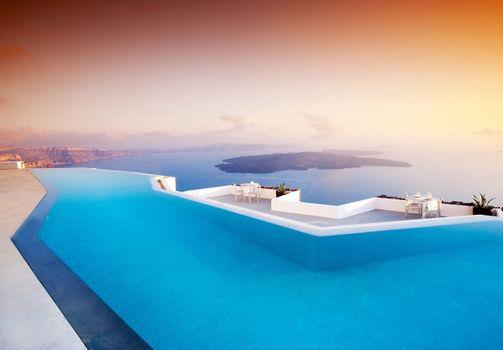 Фото бесплатно бассейн, пейзажи, Греция