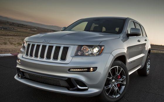 Заставки jeep, серый, дорога