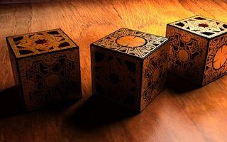 Photo free cube, tree, table