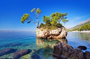 Фото бесплатно море, камни, островок
