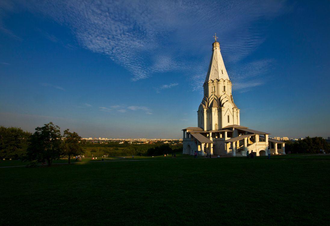 Фото бесплатно москва, коломенское, небо, лето, храм, церковь, вечер, пейзажи, пейзажи