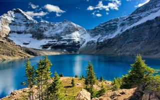 Заставки горы, мороз, небо