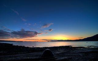 Фото бесплатно озеро, берег, палатка