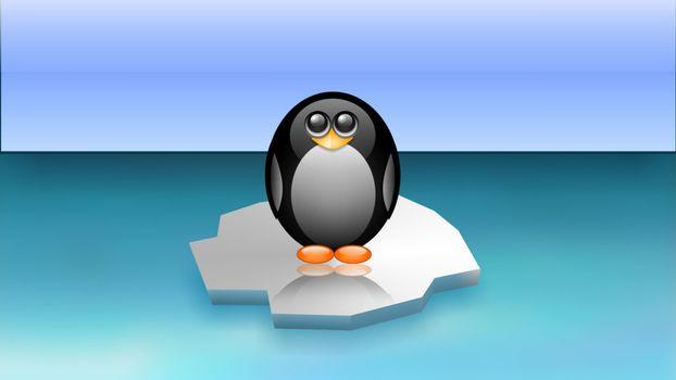 Фото бесплатно пингвин, льдина, море