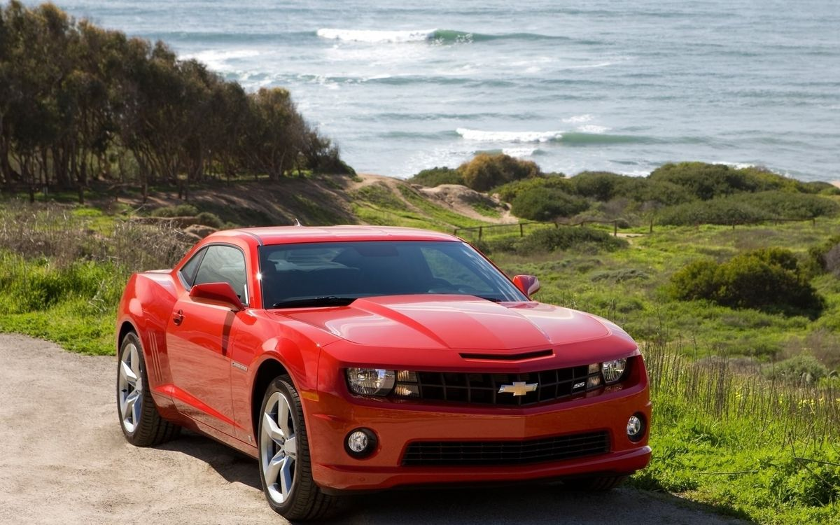 Photos for free chevrolet, camaro, red - to the desktop