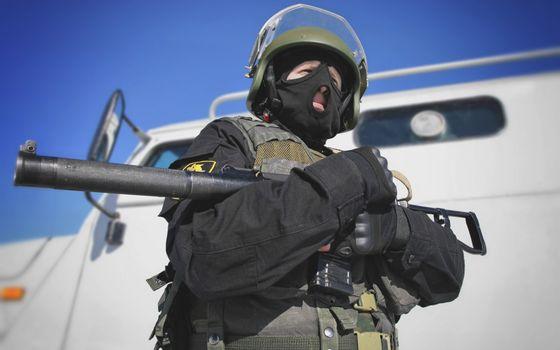 Фото бесплатно солдат, гранатомет, оружие