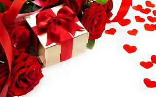 Фото бесплатно ленты, подарок, цветы