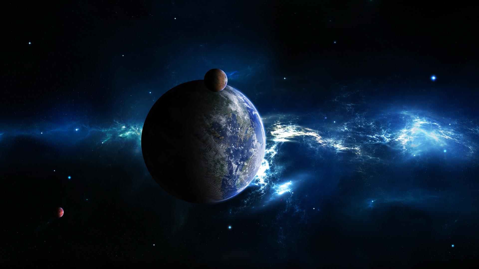 Обои космос земля спутник картинки на рабочий стол на тему Космос - скачать  № 1758145 загрузить
