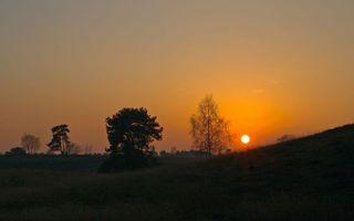 Бесплатные фото закат,восход,солнце,дерево,холмы,трава,природа