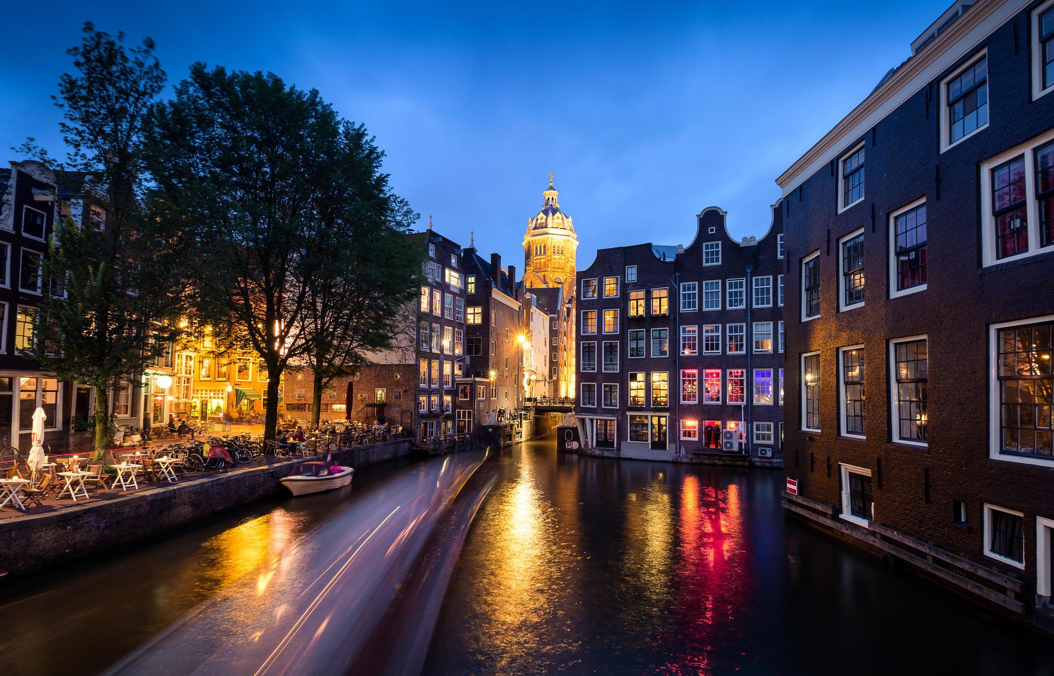 Обои Амстердам, Нидерланды, Голландия