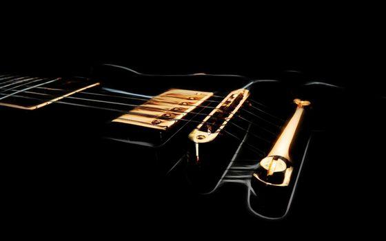 Заставки электрическая гитара, струны, фон