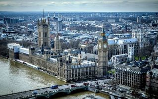 Фото бесплатно London, Palace of Westminster, Лондон, река Темза, Англия, Великобритания