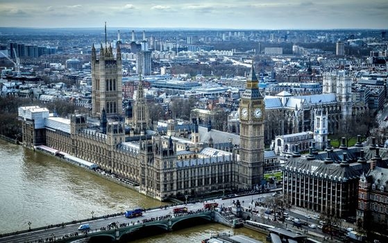 Photo free London, Palace of Westminster, Thames