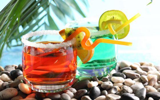 Фото бесплатно стаканы, коктейли, цветные