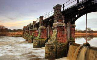 Бесплатные фото мост,дамба,кладка,река,течение,небо