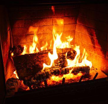 Фото бесплатно угли, пламя, камин