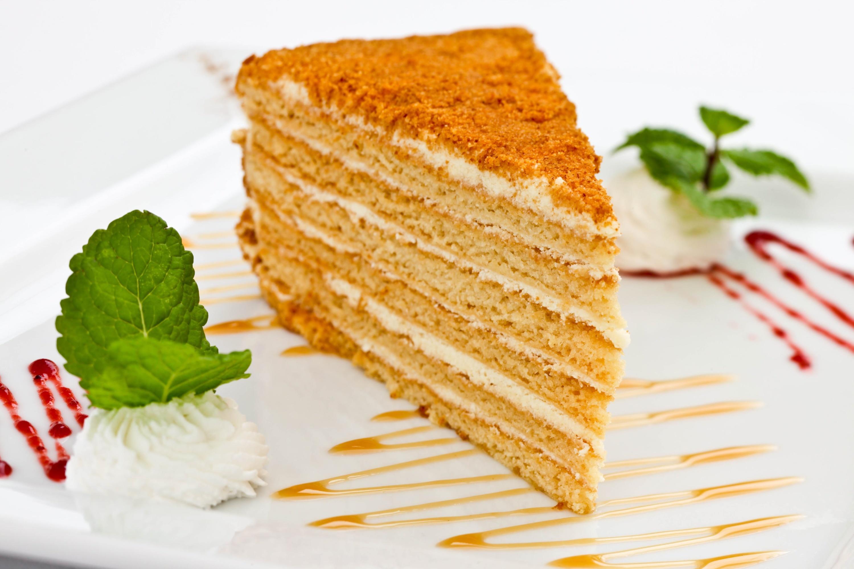 Обои мята, карамель, медовик, торт
