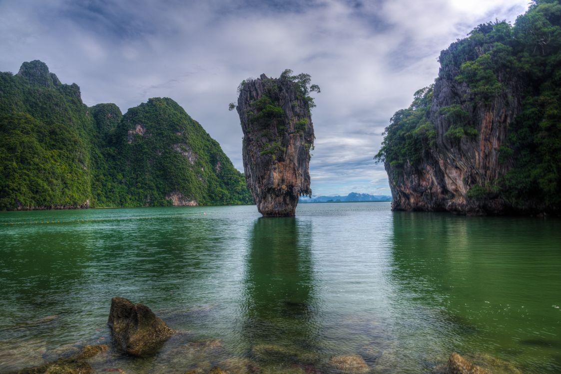 Фото бесплатно James Bond Island, Thailand, Khao Phing Kan, пейзажи