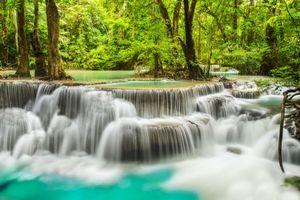 Заставки река, каскад, таиланд