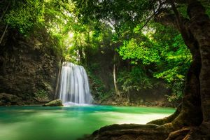 Photo free nature, Kanchanaburi, cascade