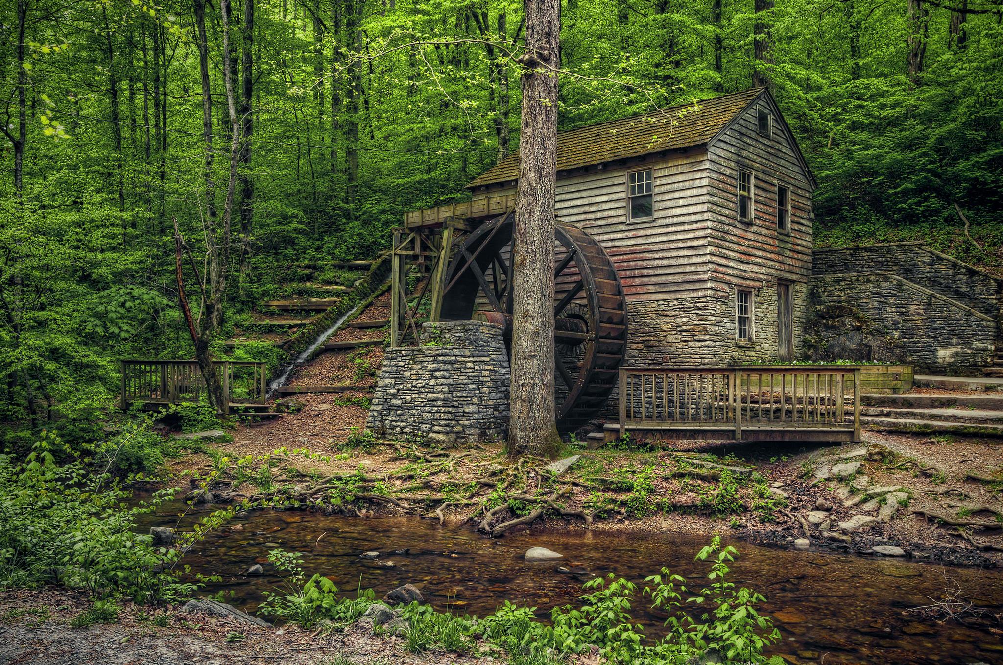 обои Rice Mill, Norris Dam State Park, Теннесси, речка картинки фото