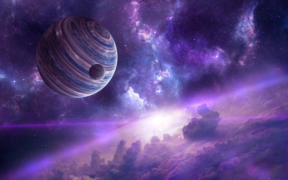 Фото бесплатно Космос, планета, Необъятные просторы космоса, вселенная, космос