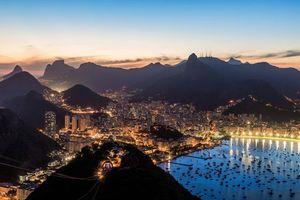 Бесплатные фото Сумерки над Рио-де-Жанейро,Рио-де-Жанейро,Бразилия