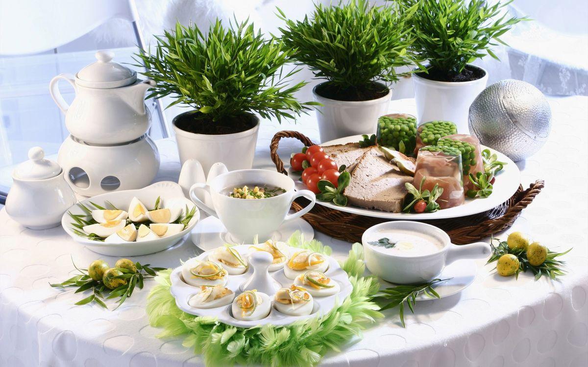 Фото бесплатно стол, посуда, блюда - на рабочий стол