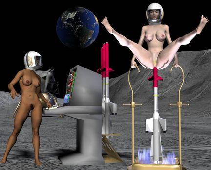 Фото бесплатно фэнтези, космос, голые, рисунок