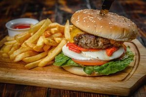 Бесплатные фото бургер,булочка,картошка,гамбургер,котлета