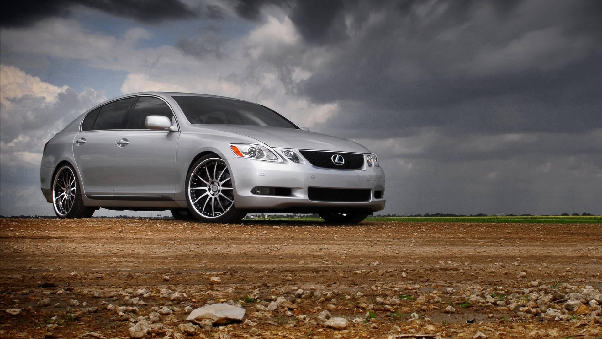 Обои Lexus, седан, серебристый, диски