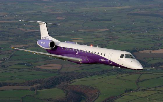 Фото бесплатно бизнес самолет, кабина, иллюминаторы