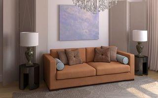 Бесплатные фото гостиная,диван,светильники,картина,люстра,палас